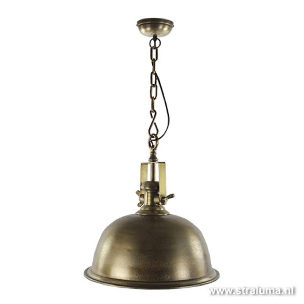 Landelijke hanglamp antiek brons L&L