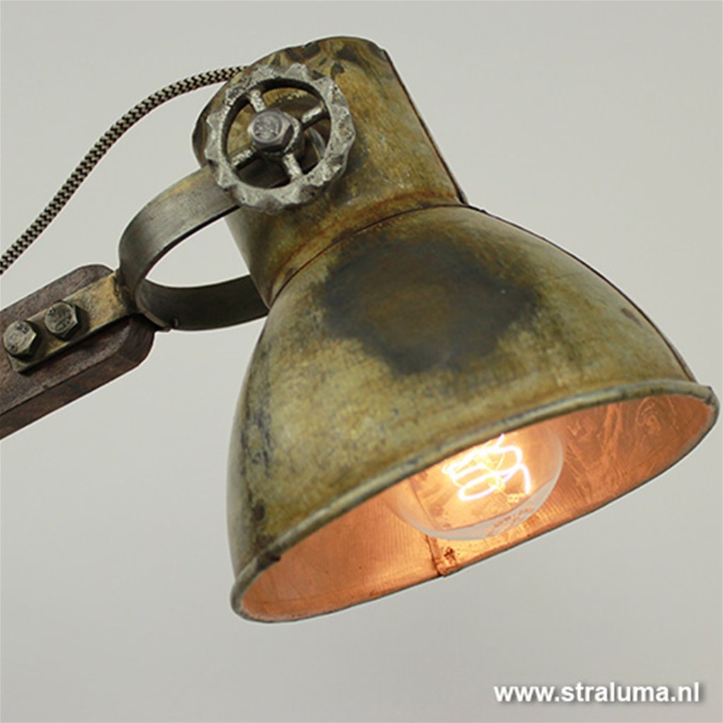 Light Living bureaulamp Ekerd hout-staal