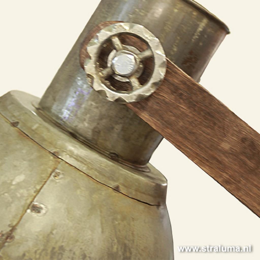 Landelijke industriële vloerlamp hout