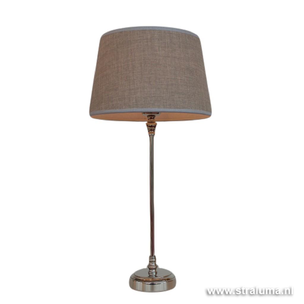 Romantische lampvoet zilver rond