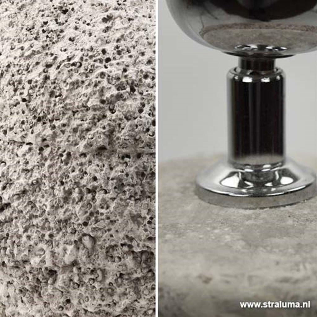 Robuuste tafellamp Toba grof beton-gr