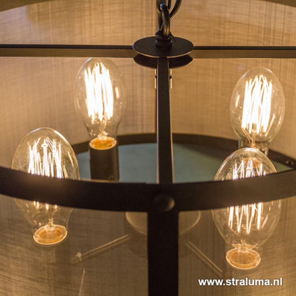 Light Living hanglamp Lancelot zwart