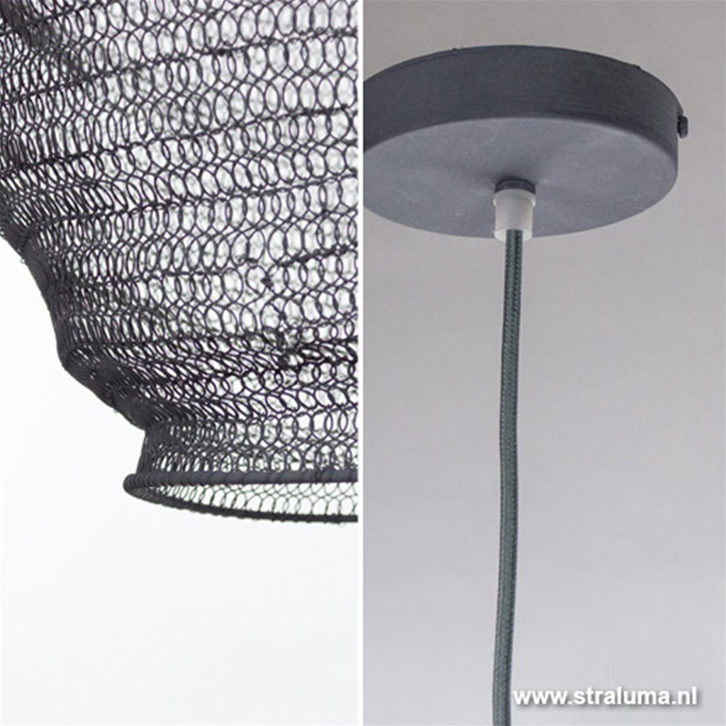 **Hanglamp gaas klein grijs