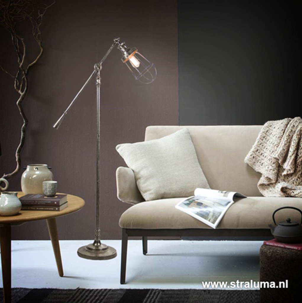 Light & Living kooi vloerlamp Evert