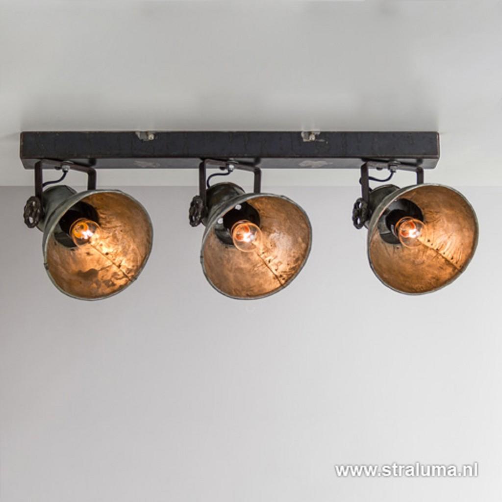 Industriele metalen spot 3-lichts