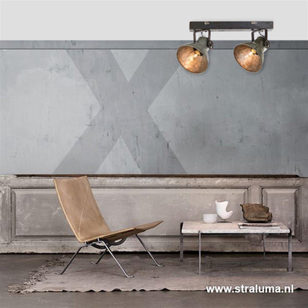 Stoere metalen plafondspot-plafondlamp Elay