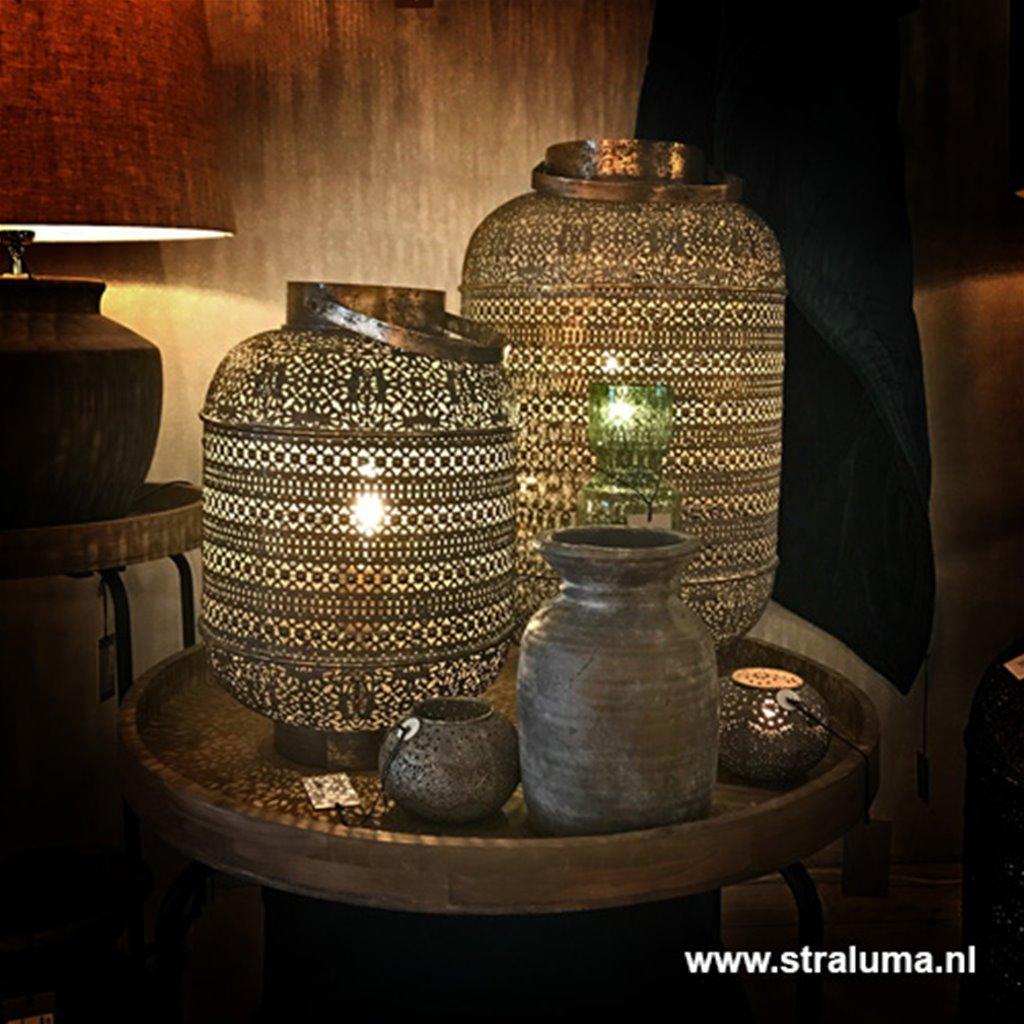 Light & Living lantaarn-tafellamp Udupi