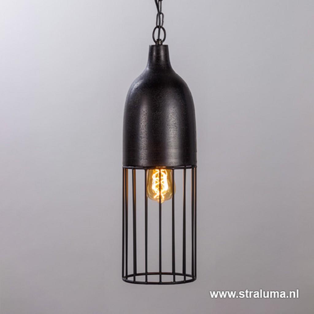 *Metalen draad hanglamp zwart