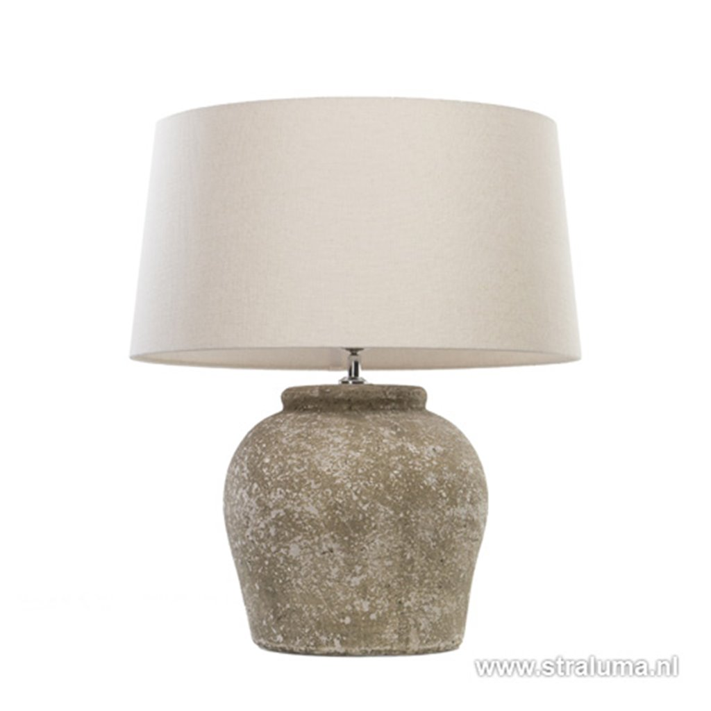 Lampvoet Etna small aged stone landelijk