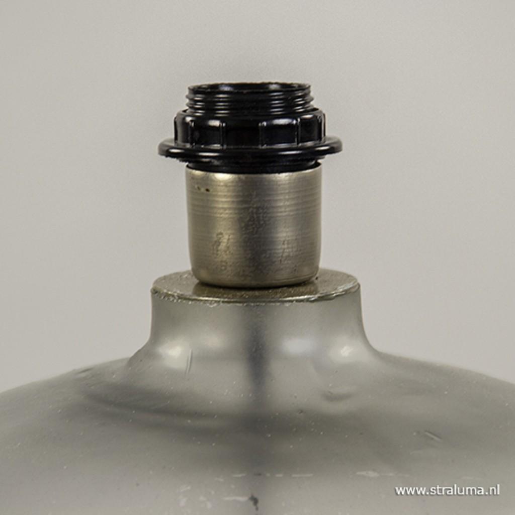 Lampvoet mat glas met zilver groot
