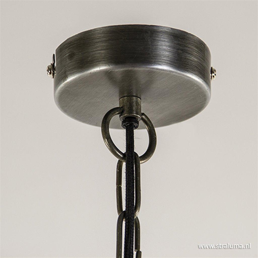 Kleine hanglamp rond metaal grijs
