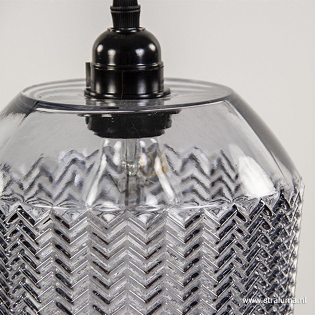Lorina hanglamp grijs glas