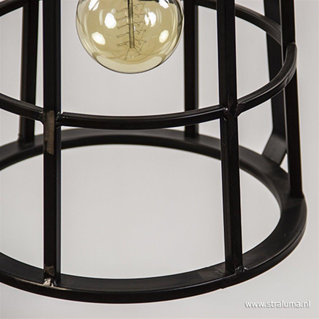 Industriële metalen hanglamp kooi