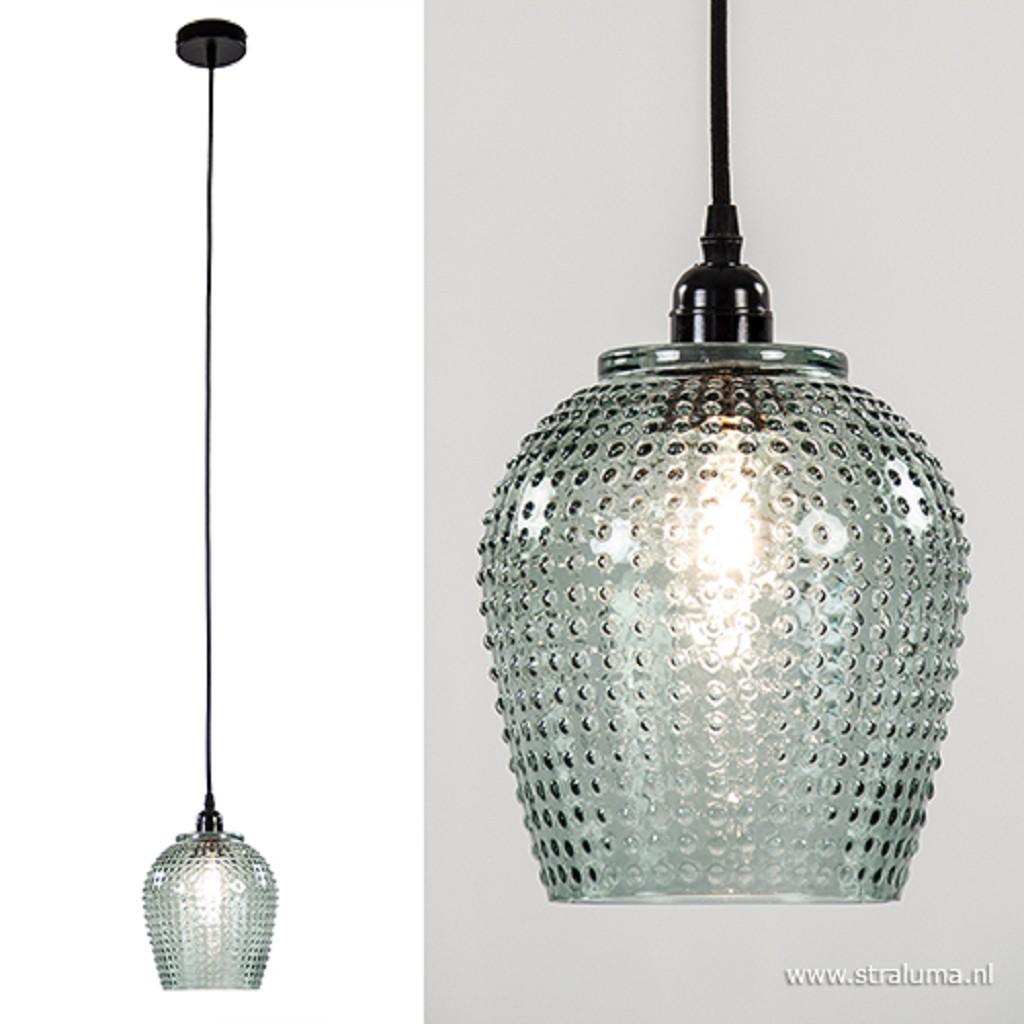 Glazen hanglamp Berdina groen