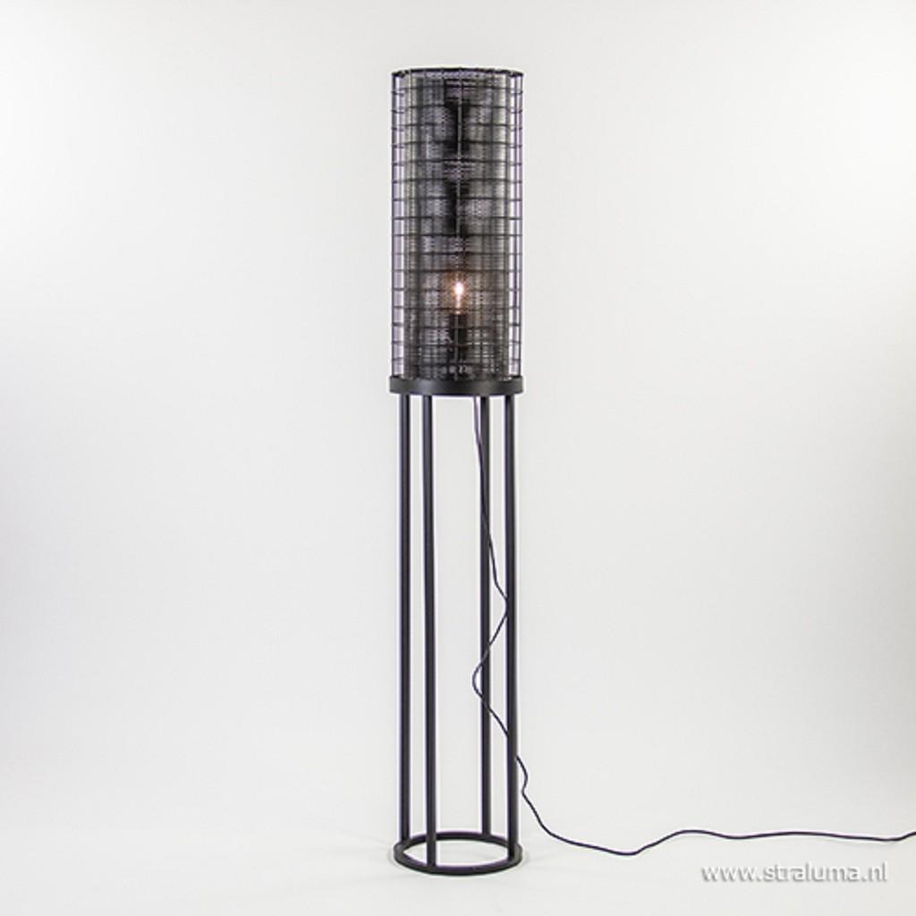 Light & Living zwarte vloerlamp Arede
