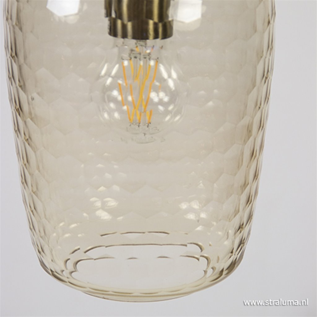 Hanglamp Delica bruin glas Light Living