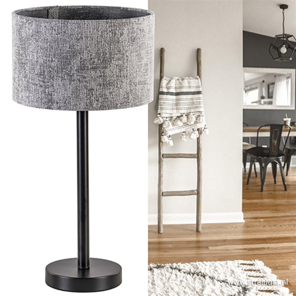 Zwart metalen lampvoet Washington L&L