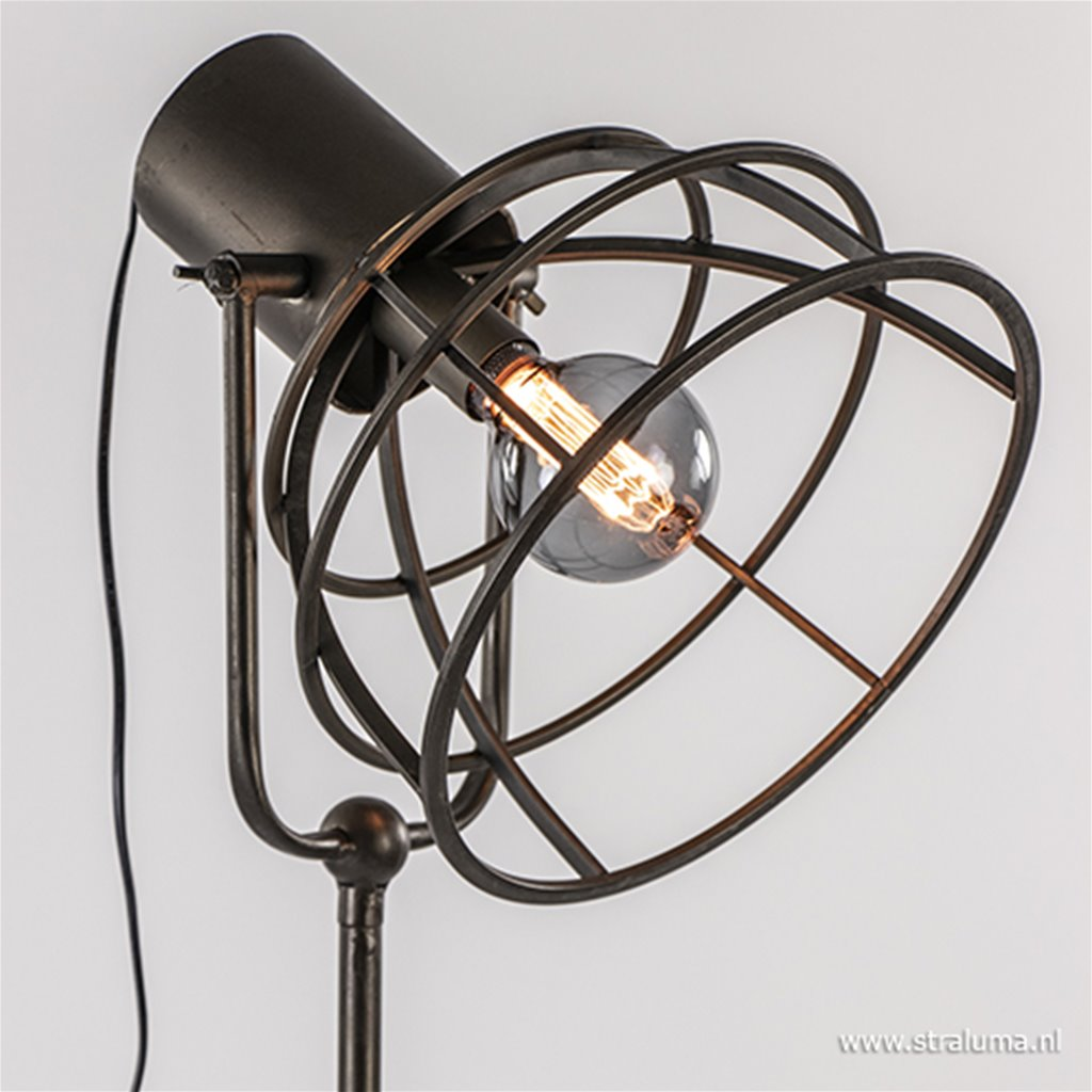 Industriële driepoot vloerlamp Givan