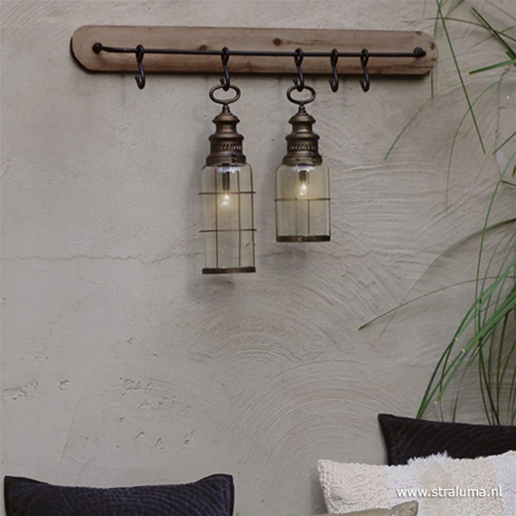 Lantaarn-tafellamp op batterijen metaal