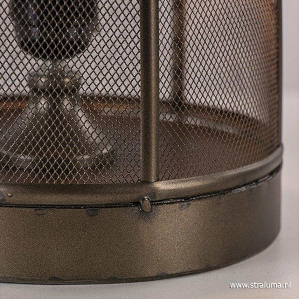 Metalen lantaarn tafellamp Pruez brons