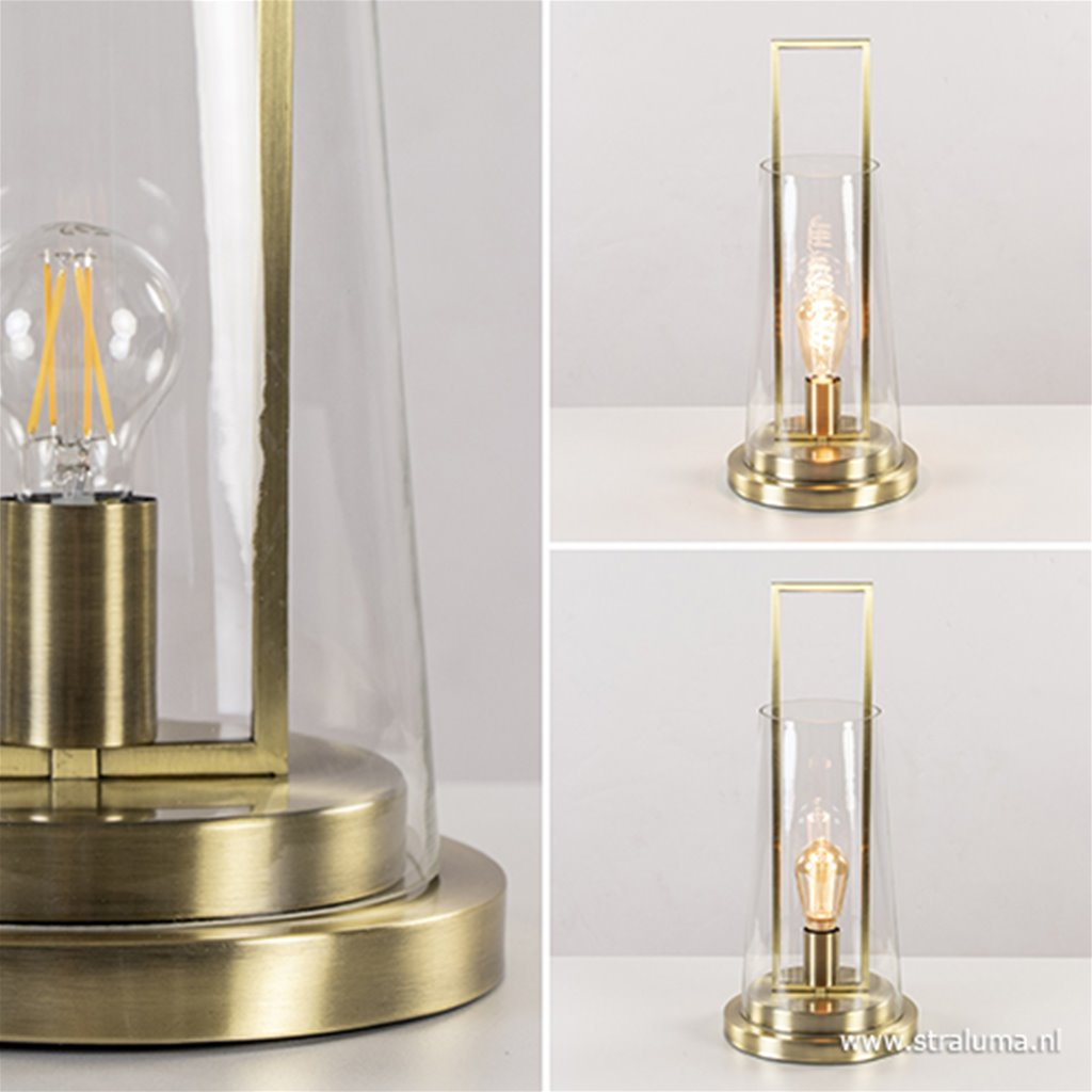 Tafellamp Amando L&L helder glas