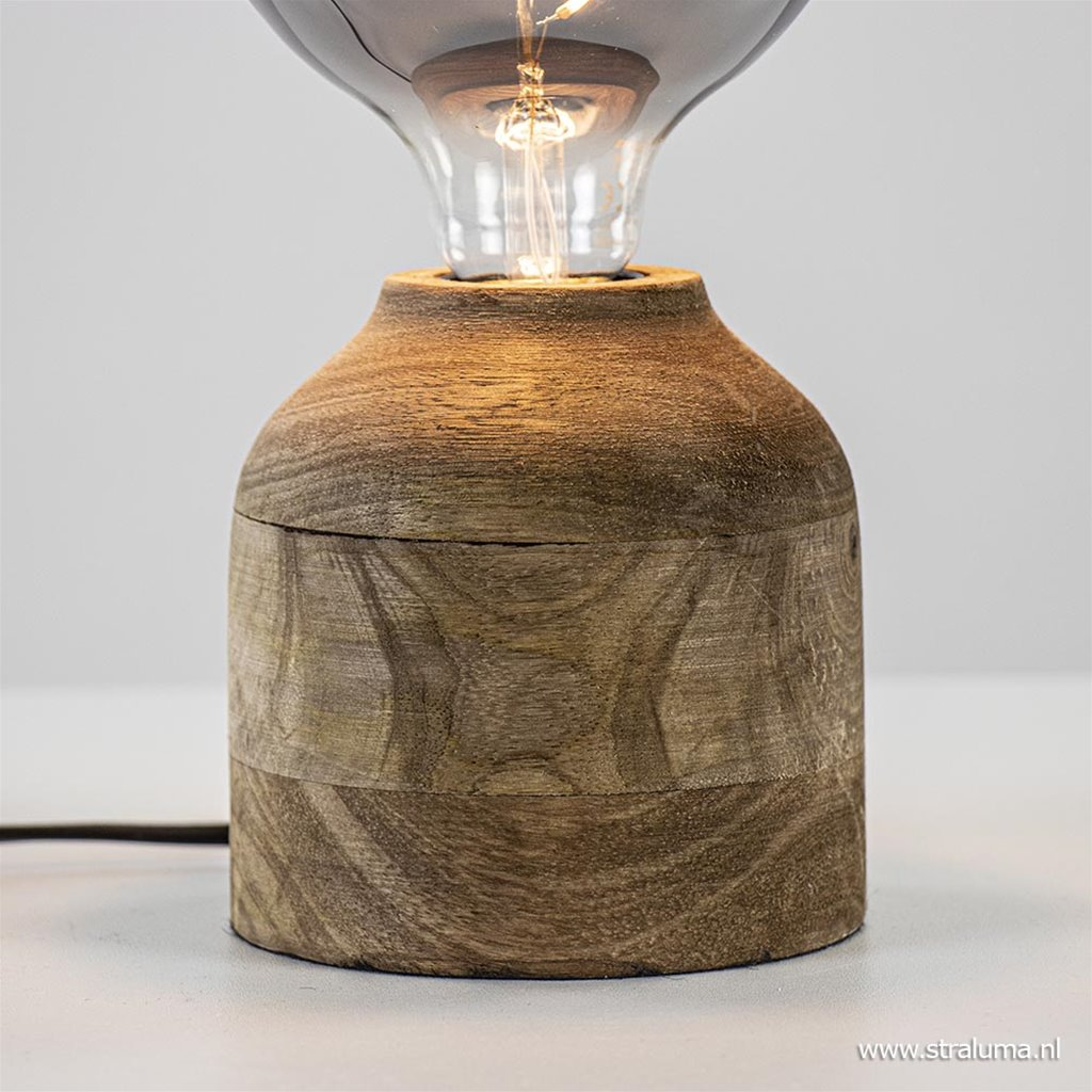 Light & Living tafellamp Byma hout excl. lichtbron