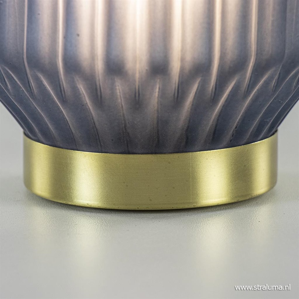 Tafellamp Ivot op batterij mat blauw groot