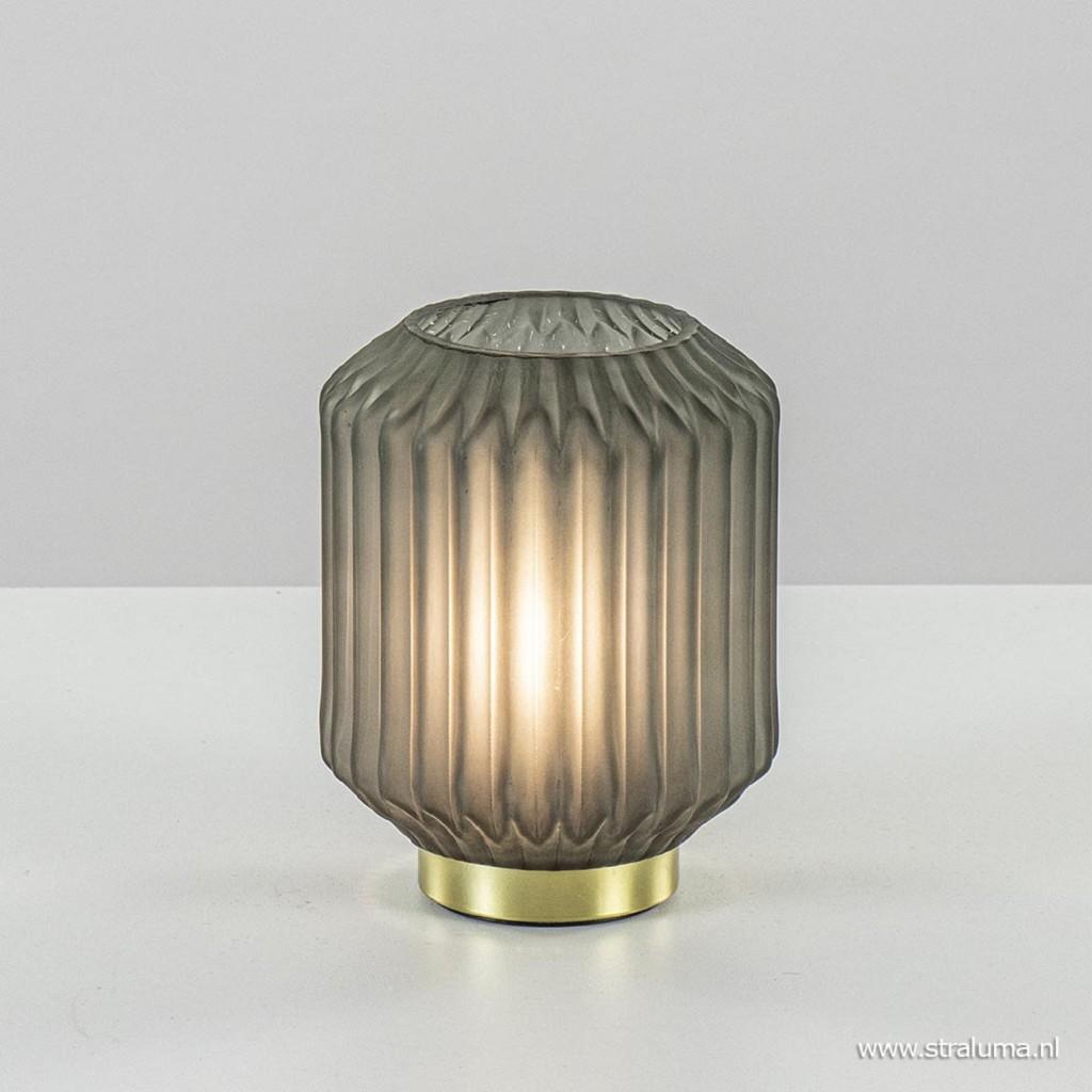 Olijf groene tafellamp Ivot op batterij