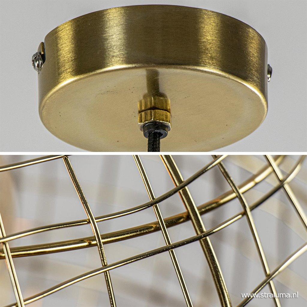 Trendy hanglamp Mirana brons L&L