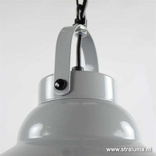 Kleine grijze hanglamp metaal keuken