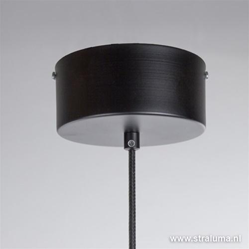 Luxe industriële hanglamp zwart-koper