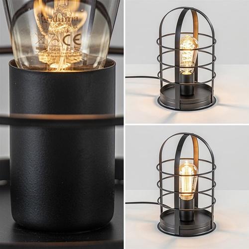 Zwarte tafellamp Kooi industrie