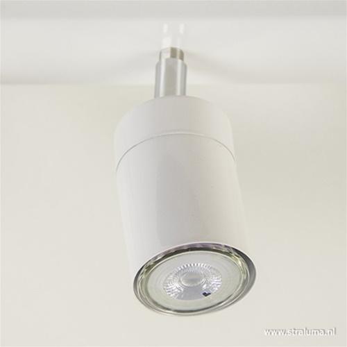 Moderne plafondpot balk 6-lichts wit