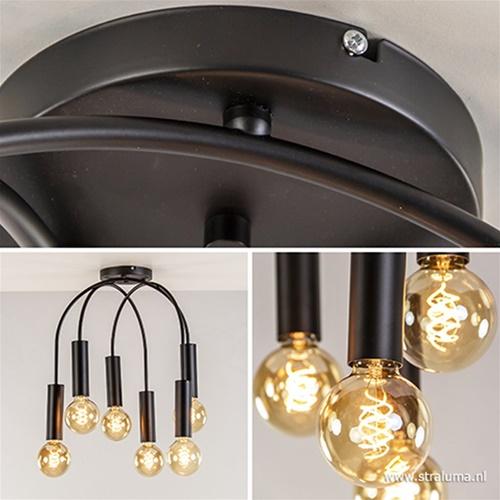 Moderne 6-lichts plafondlamp excl. bron