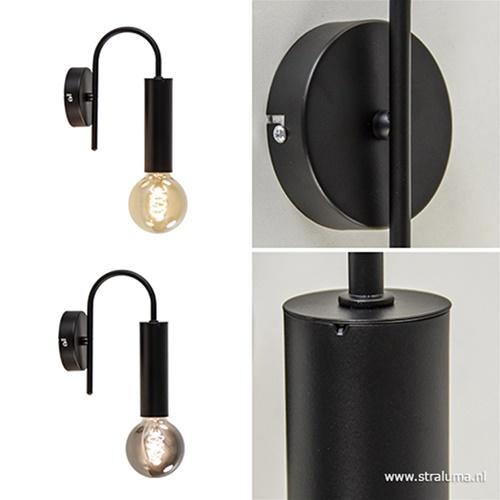 Wandlamp toog enkel zwart