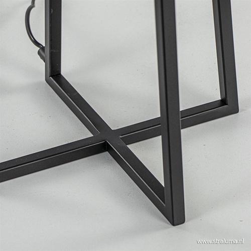 Moderne tafellamp zwart frame excl. kap