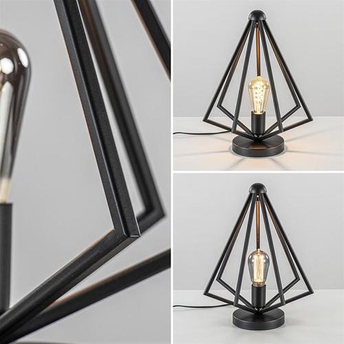Scandinavische tafellamp open frame mat zwart