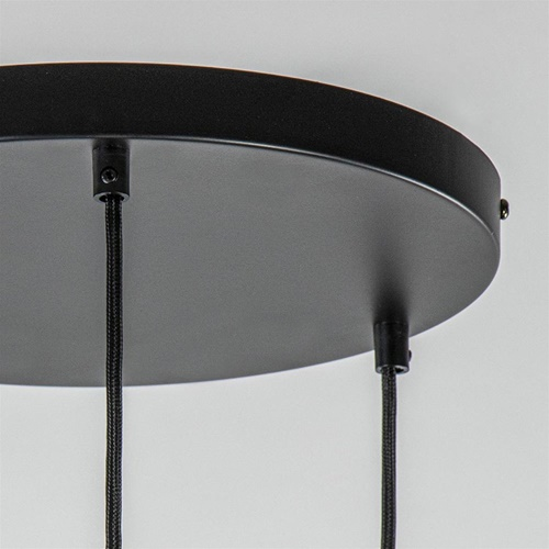 Moderne luxury 3-lichts hanglamp met smoke glas cilinder