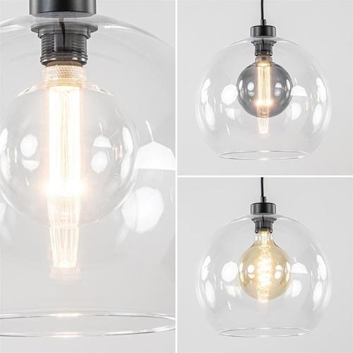 Moderne hanglamp met helder glas 30 cm