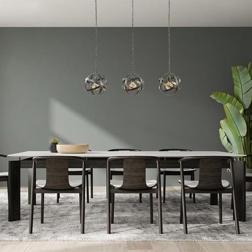 Industrieel landelijke 3-lichts eettafelhanglamp antiek brons