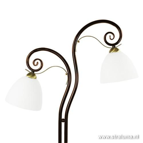 Klassieke vloerlamp chique 2 lichts straluma - Klassieke vloerlamp ...
