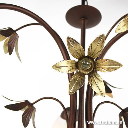 hanglamp kroon klassiek glas slaapkamer straluma