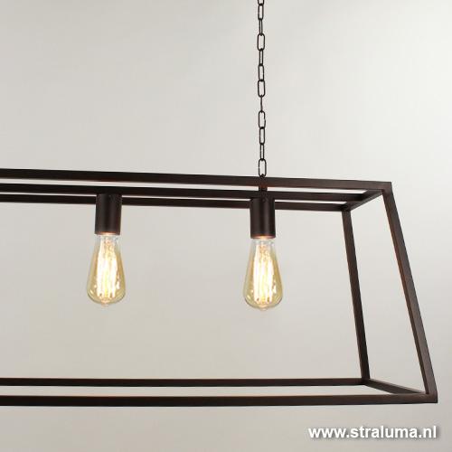 landelijke hanglamp eettafel bruin straluma