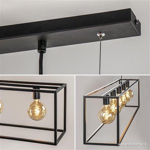 Grote eettafel hanglamp zwart balk straluma for Grote hanglamp eettafel
