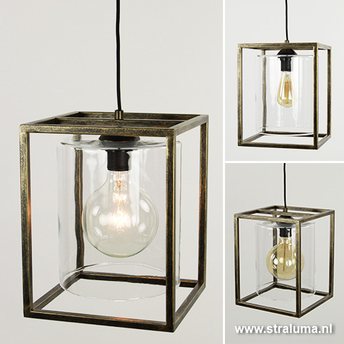 Strak klassieke hanglamp lantaarn frame straluma for Klassieke hanglamp