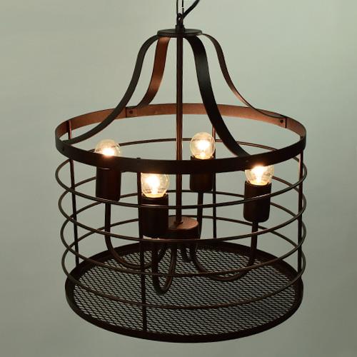 Landelijke eettafelhanglamp bruin | Straluma