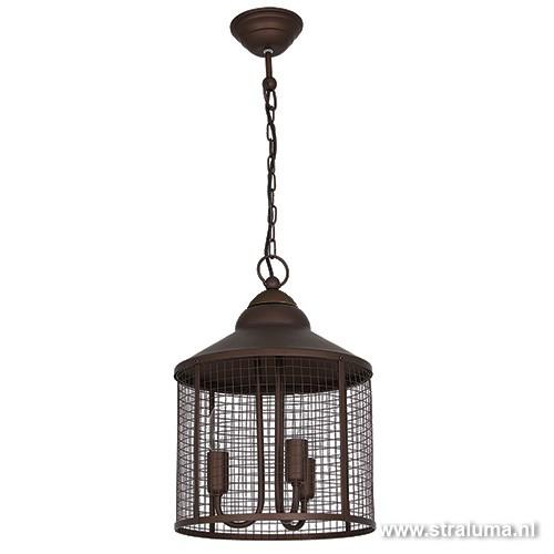 landelijke hanglamp lantaarn eettafel straluma