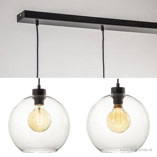 Favoriete Hanglamp glazen bol 4-l modern clear   Straluma #SD71