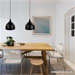 Zwarte hanglamp voor kleine eettafel-bar