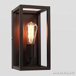 * Wandlamp lantaarn bruin frame